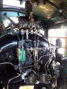 Der Arbeitsplatz des Lokomotiv-Führers