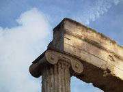 Bestens erhaltenes Säulenkapitell