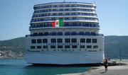 Ein schöner Rücken kann auch entzücken: «Costa Mediterranea»