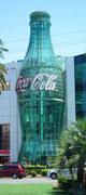 Die grösste gläserne Coca-Cola Flasche der Welt