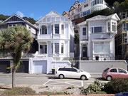 Die hübschen Holzhäuser im «San Francisco» Baustil