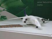 Flugzeug-Entwurf in aerodynamisch optimiertem Rumpf-Flügel-Design