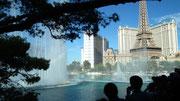 Das Wasserspiel vor dem Bellagio-Hotel fasziniert täglich tausende Touristen
