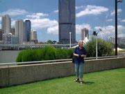 Schöne Parkanlage am Brisbane-River