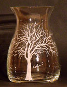 1980 Kristallvase mit  Colani Tree für RITZENHOFF Crystall