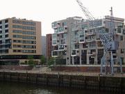 Moderner Wohnbau am Hafen