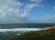 Wolken und Wind zeigen Wetteränderung an