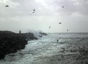Und schon wechselt das Wetter wieder zu starkem Sturm . . .