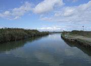auf idyllischen und ruhigen Kanälen des Po-Delta und zum Bocca del Po