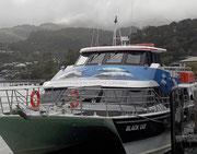 Das Ausflugsschiff steht bereit für die «Wildtier-Beobachtungsfahrt»