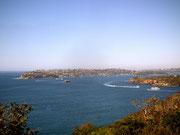 In den verschiedenen Buchten reger Schiffs- und Boots-Verkehr