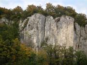 Nochmals Blick zu den schroffen, aber «beliebten» Felsen . . .