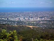auf die Stadt Adelaide bis zum Meer