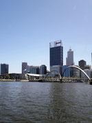 Blick zurück auf die City von Perth