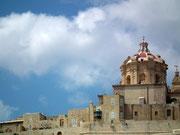 Die Kuppel des Romanischen Doms von Mdina
