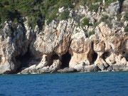 """Mit einem kleinen """"Kreuzfahrtschiff"""" kreuzen wir im Golfo von Orosei..."""