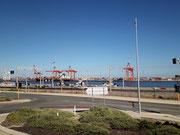 von Fremantle als Import- und Exporthafen für Perth