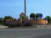 Hübscher Verkehrskreisel im Abendlicht auf der Fahrt nach Cala Millor