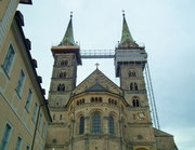 Der Kaiserdom St. Peter und St. Georg mit seinen imposanten Türmen
