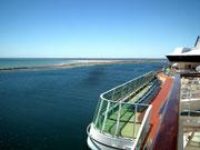 Ausfahrt aus dem «Harbour Adelaide»