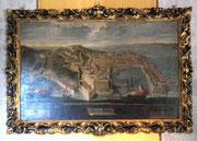 Ein schönes Gemälde, das den Blick auf den wichtigen Hafen zeigt