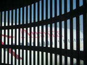 Gelandet: Blick zurück zum Airbus 320 der Austrian Airlines