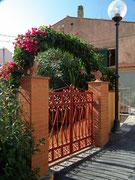 Hübsches Eingangstor in mediterraner Farbe