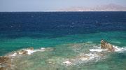 . . . ins tiefblau übergehende Meer: Eine Augenweide und Fotosujet