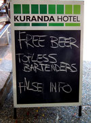 Gut gemachte Werbung: «Frei-Bier» + «Oben ohne Bedienung» ––> «Fake News» 😊
