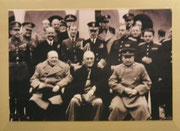 Churchill, Roosevelt und Stalin die Jalta-Konferenz abhielten.