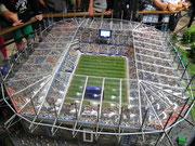 Das Volksparkstadion (ehem. AOL-Arena) fasst 57'000 Zuschauer