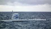 Mit diesem 65 Fuss langen U-Boot tauchten wir ab