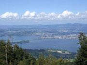 . . . Blick zurück auf den Zürichsee