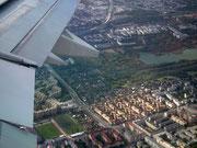 Anflug auf Wien