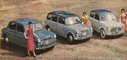 1955 - Verschiedene Fahrzeug-Kreationen für FIAT