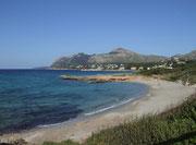 Blick auf den Strand von Manrese und Bonaire