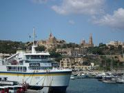 Ankunft im Hafen von Gozo