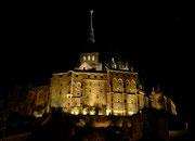 Nochmals ein Blick auf den beleuchteten Mont Saint Michel