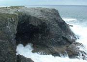 . . . die tiefe Höhlen in die Küste graben