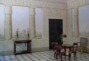 Schöne und feine Tromp-l'oeil-Malereien verzieren die Räume