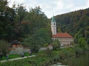 Ein erster Blick auf das Kloster Weltenburg