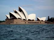und natürlich auf das «Opera House» mit dem berühmten Kuppeldach