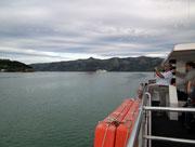 In der Ferne unser parkendes Schiff