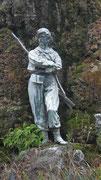 Der «Bewacher» des Garibaldi-Denkmals nimmt es gelassen