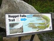 Auf dem Weg zum Glacier kommt man auch bei Nugget Falls vorbei