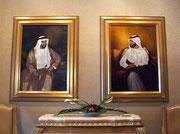 . . . als auch von Vater und Sohn Scheich des befreundeten Emirats Dubai «empfangen»