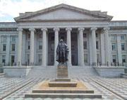 Das imposante Gebäude des Treasury Departements (Finanz-Ministerium)