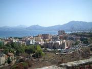 Blick auf die Stadt bei der Auffahrt zum Monte Pellegrino
