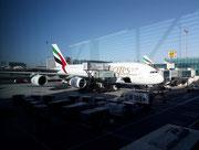 Hier aber – trotz Spiegelung – sind gut die beiden «Stockwerke» des Passagierabteils zu sehen