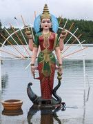 sowie eine der typischen indisch-tamilischen Göttinnen